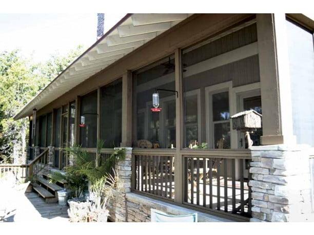 A spacious front porch