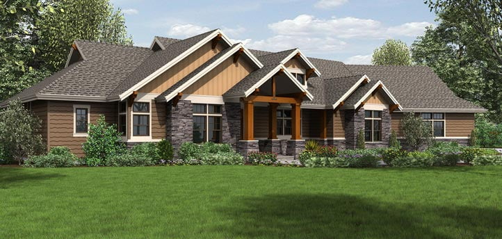 jaw dropping mix of ranch craftsman style home hq plan. Black Bedroom Furniture Sets. Home Design Ideas