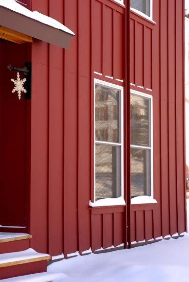 White-framed window