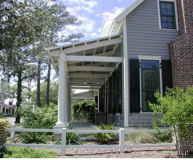 A spacious and relaxing front porch