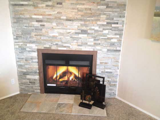 The fire place will give warmth to your cold evenings