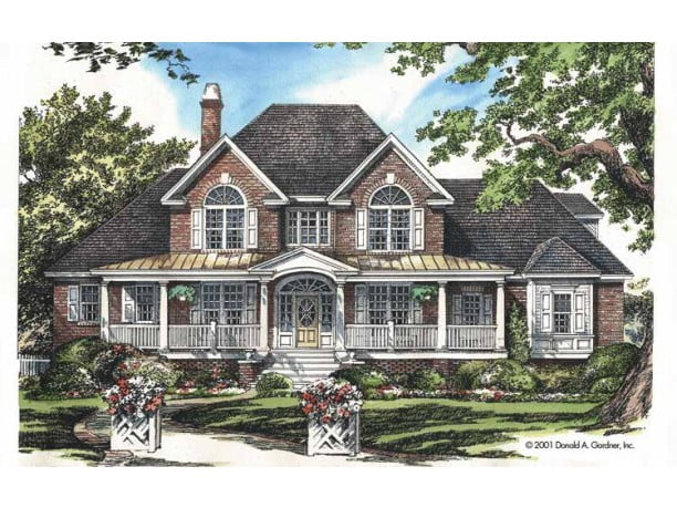 One of a kind texas style country home w brick wainscot for One of a kind house plans