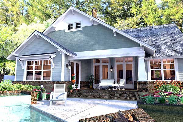 A swimming pool can be installed in place of the front porch