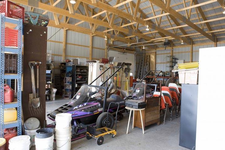 Vast garage area