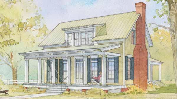 Gorgeous yet Simple-Design Cottage House (HQ Plans & Pictures ...