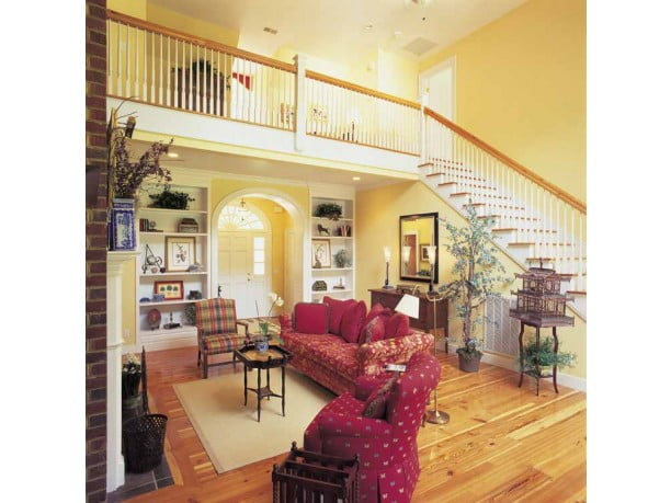 This spacious stair will lead you up to the second floor of the farmhouse.