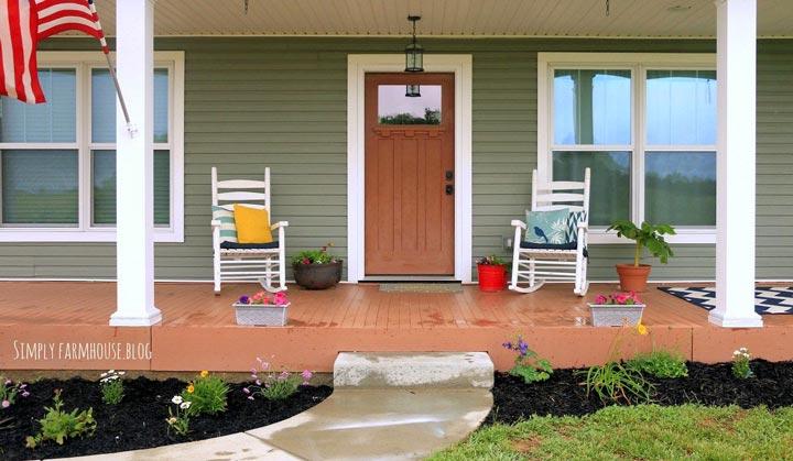 Front porch closeup view