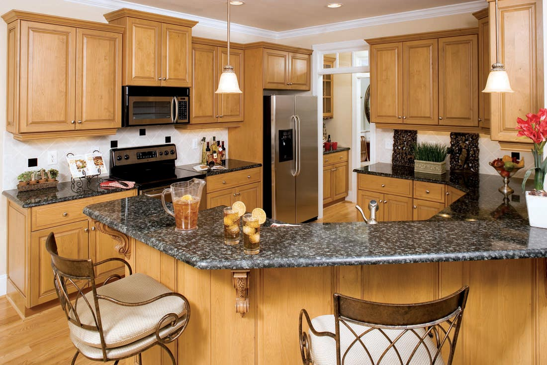 The kitchen counter that's notably designed