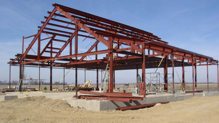 steel frame is used to ensure durability against natural disasters