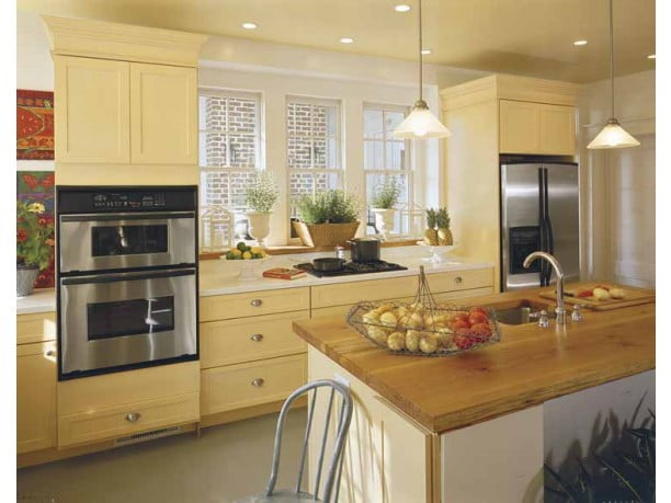 The kitchen with a touch of modernity