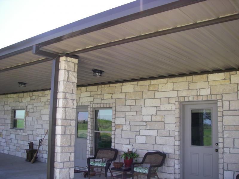 The limestone exterior welcomes the guests