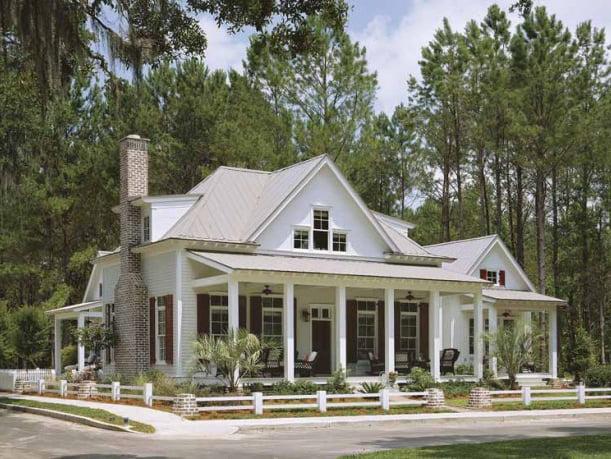 A 2-storey cottage made of steel frames