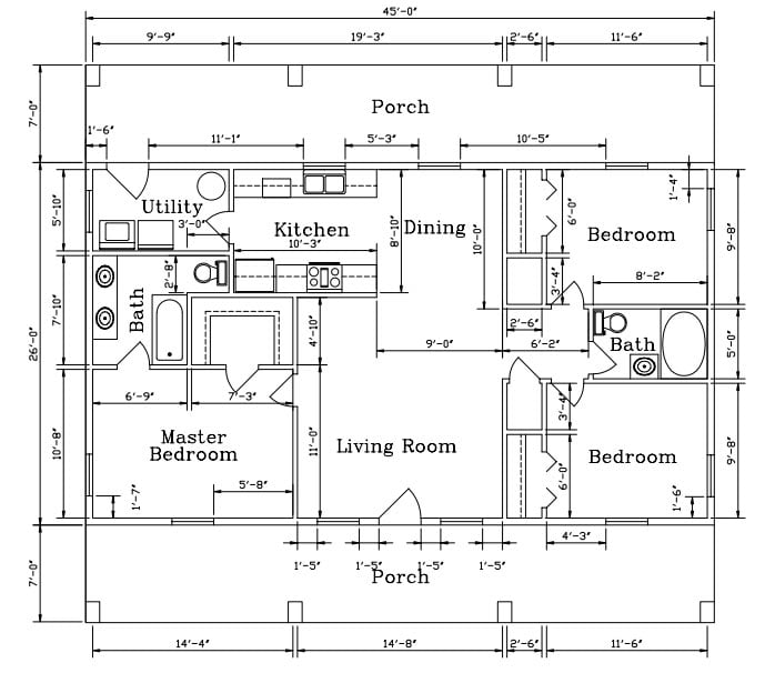 Steel Frame Homes Floor Plans Architectural Designs