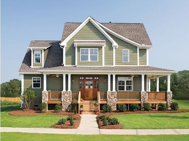 Impressive farmhouse w wrap around porch hq plans for Free house plans with wrap around porch