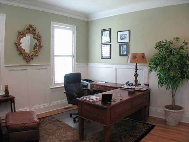 Professionally arranged office area