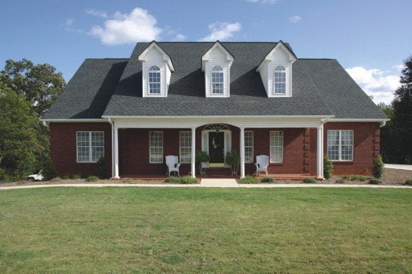 Elegant country porch style home of 1 992 sq ft hq plans for Elegant country homes