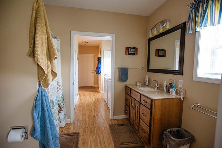 A stately bath room