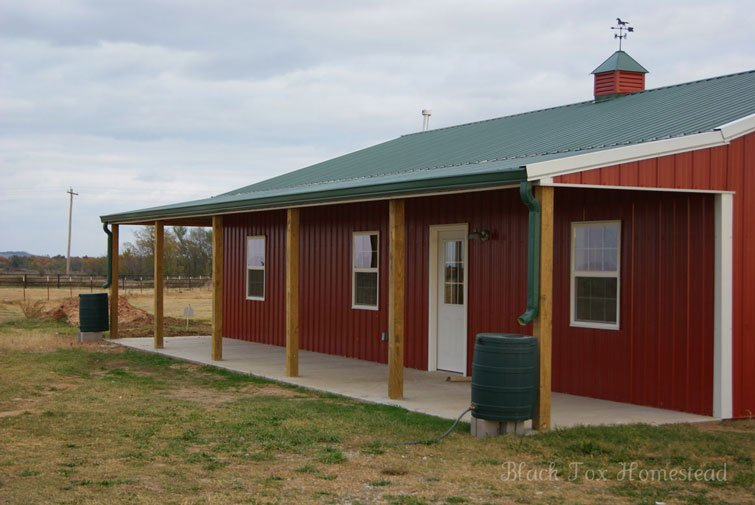 Very simple 30 x 50 metal pole barn home in oklahoma hq for Pole building house plans