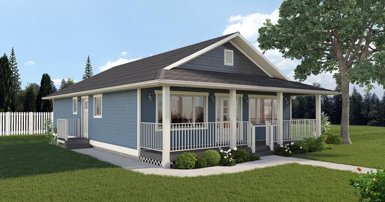 1260 sq ft economical rancher home w front porch hq Vinyl siding house plans