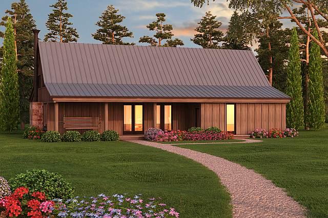 Minimalist farmhouse bachelor pad w beautiful for Bachelor house plans