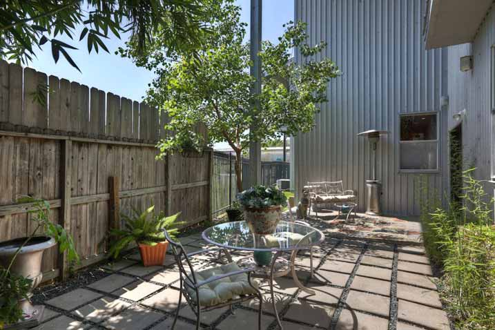 This refreshing patio is at your disposal, a perfect spot for your morning tea time