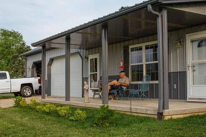 A fresh and spacious porch