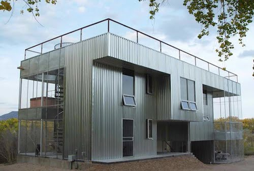 Simple amazing all metal house for inspiration hq for Industrial home designs