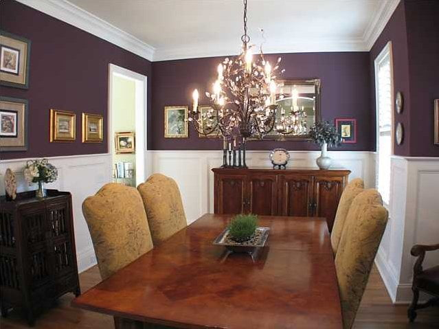 The soothing ambiance of the formal dining room