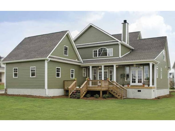 impressive farmhouse w/ wrap-around porch (hq plans & pictures