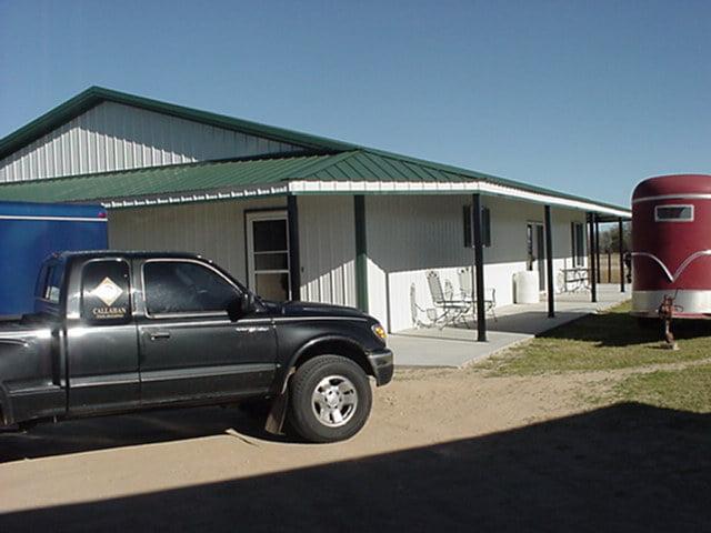 wide garage