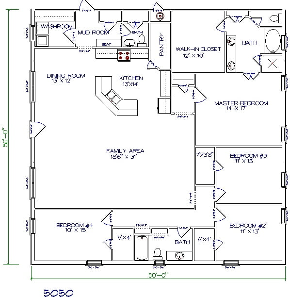 Top 5 metal barndominium floor plans for your dream home Barn house layouts