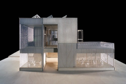 A prototype of this amazing steel house.