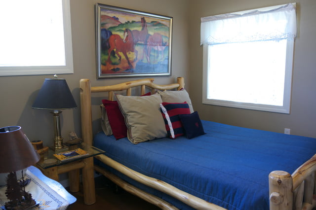The simplistic sense of the bed room