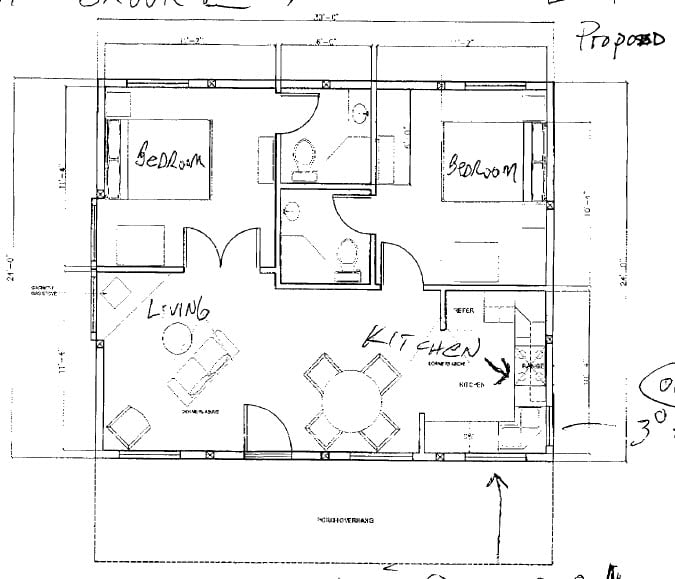 ordinary 24x30 house plans #5: The simplistic sense of the bed room