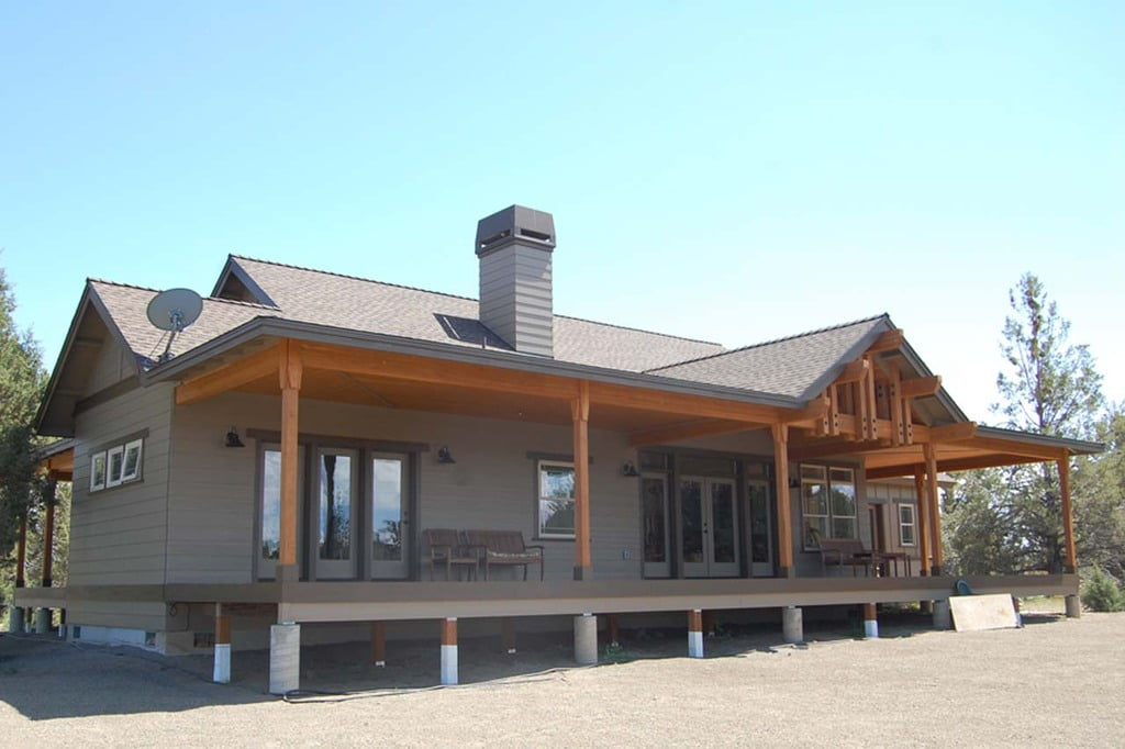 Traditional american ranch style home hq plans pictures for Steel building house pictures