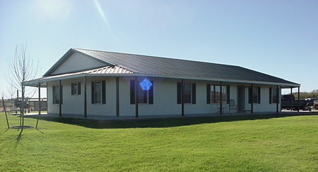 Simple yet beautiful oklahoma farmhouse hq pictures for Metal building farmhouse plans