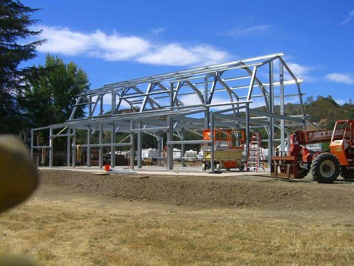 Steel Frame Building Kits : Steel frame gambrel type homes starting from hq