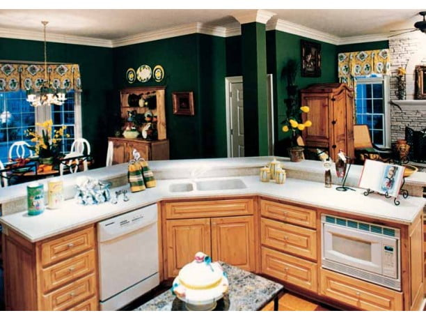 You got your kitchen, breakfast area and hearth room in the right area