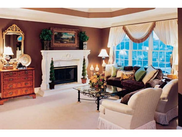 Warm up to the fireplace in the grand room