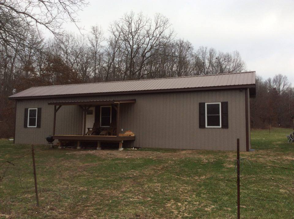 A quick look at fan s metal cabin in missouri 4 pictures metal building homes - Quick built homes ...