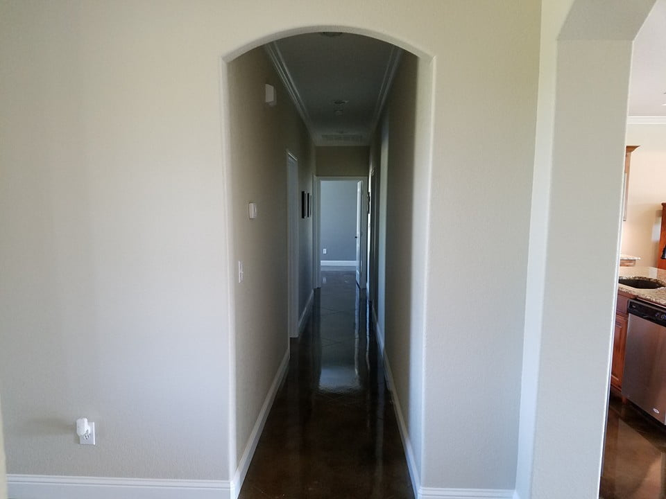A simple, narrow hallways is a good way to maximize the home's space.
