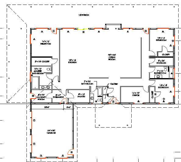 Metal Building Home w/ Awesome Wrap-around Porch (HQ Plans ... on split bedroom ranch floor plans, ranch style house addition plans, texas ranch house plans, country ranch house plans, home floor plans, unique ranch house plans, metal ranch custom homes, open ranch floor plans, 40x60 barndominium floor plans, metal houses with open floor plan, metal building homes prices, 1960 ranch style floor plans, metal building drawings, simple ranch style house plans, metal house plans in texas, metal building house plans,