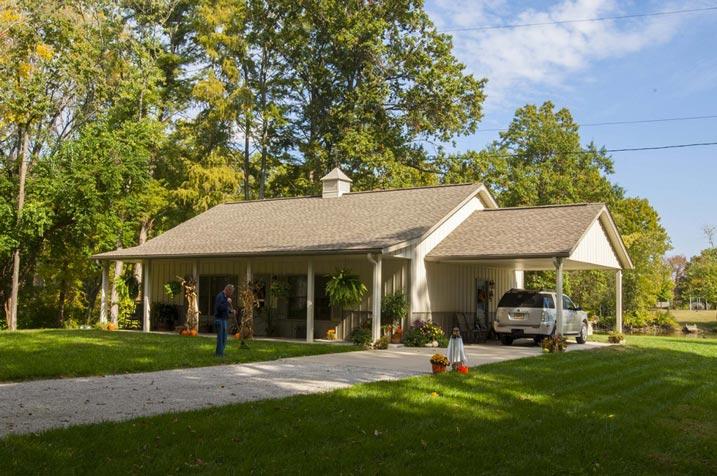 Superb Metal Building Home W Carport Amp Porch Hq Pictures