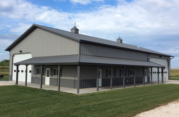 Fantastic metal building storage home w living quarters for Metal barn with living quarters floor plans