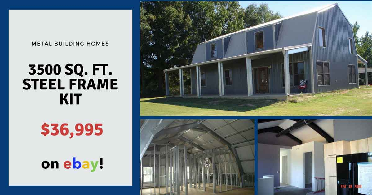 Steel Metal Home Building Kit of 3500 sq. ft. for $36,995 ... on