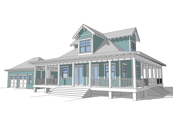 Country Ranch Home W Wrap Around Porch Hq Plans