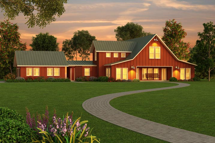 A peek at the building process of this simple modern for Thornton builders modern farmhouse plan