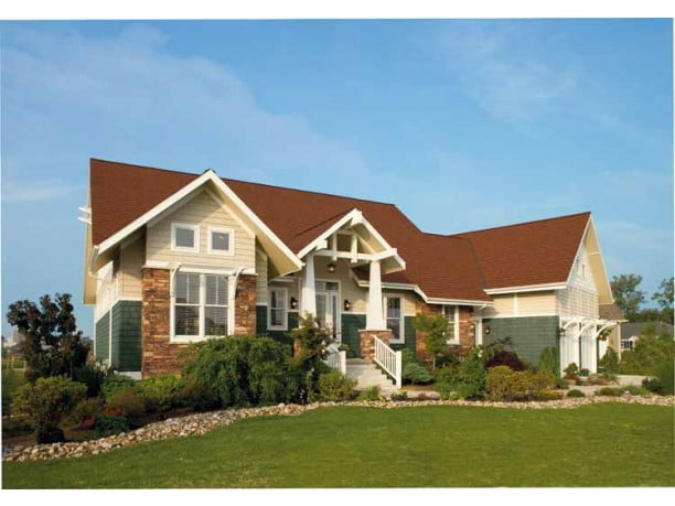 Award winning american home w craftsman details hq plans for Award winning craftsman home designs
