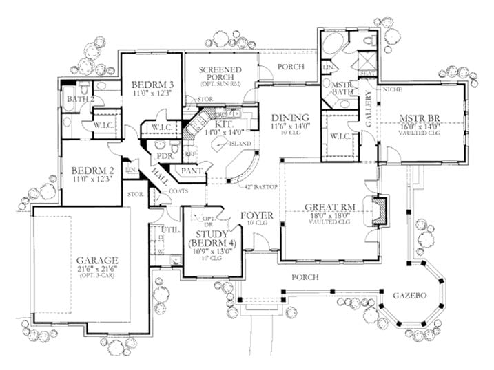 4 Bedroom House Floor Plans With Wrap Around Porch Room