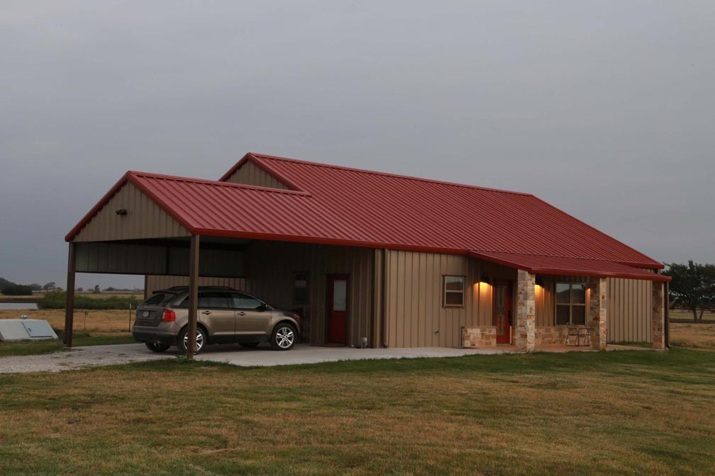 You will be blown away by this perfect metal building home for Metal building farmhouse plans